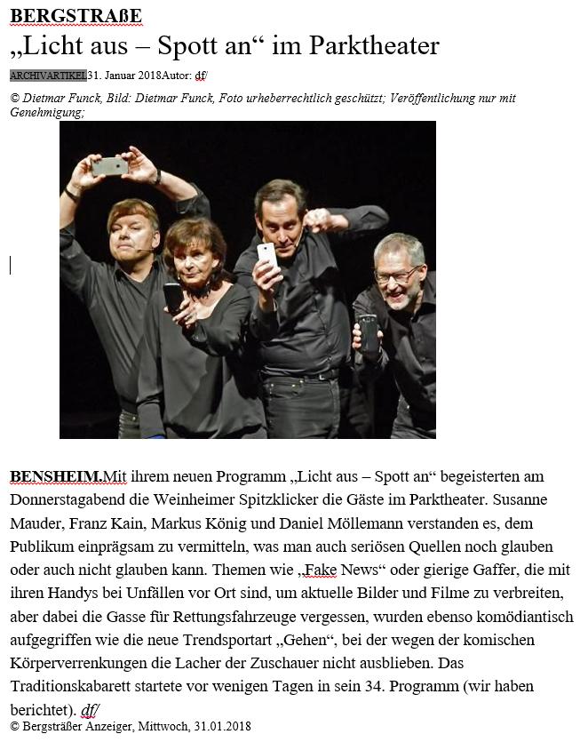 Bergsträßer Anzeiger – 31. Januar 2018