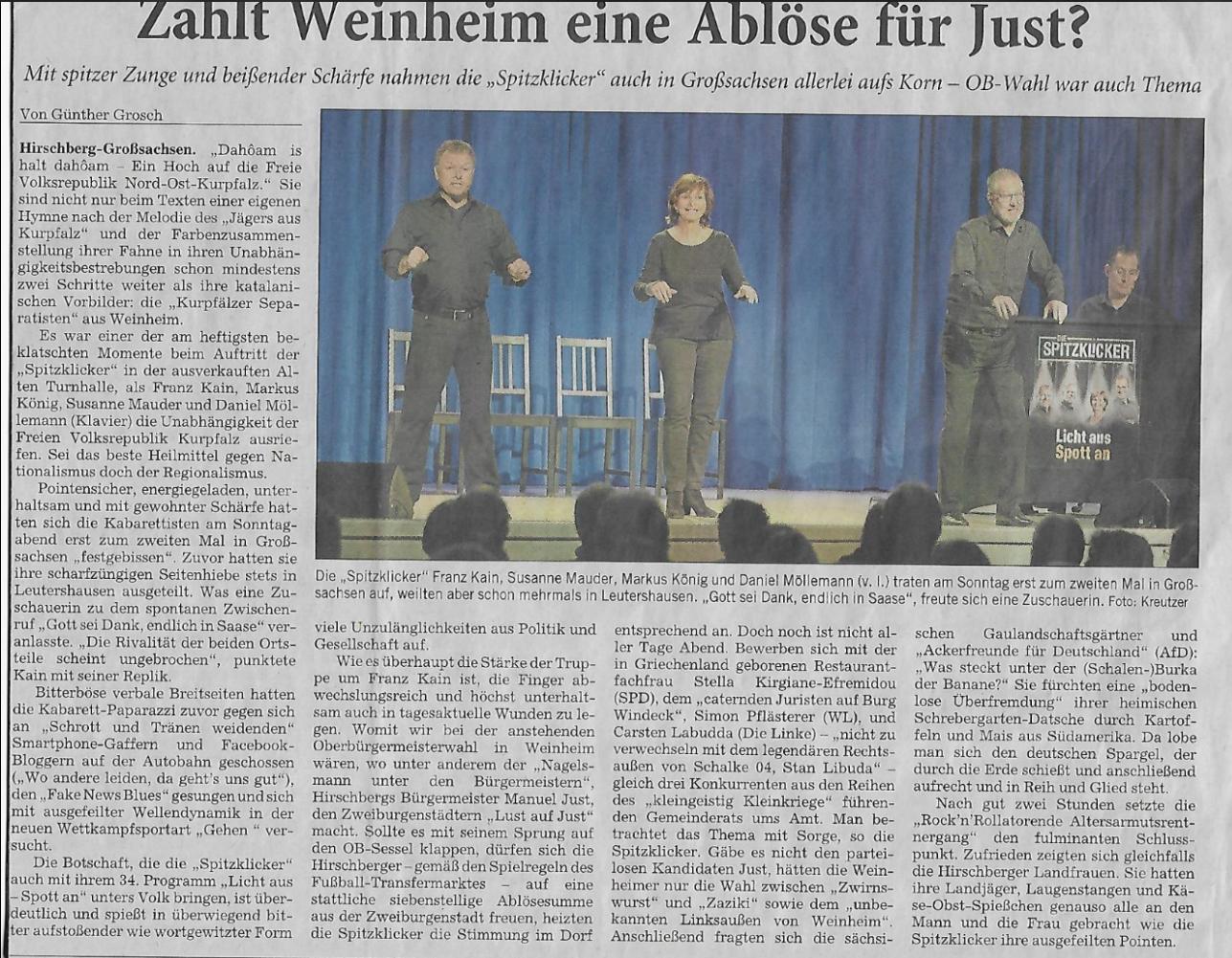 Rhein-Neckar-Zeitung – 06. März 2018